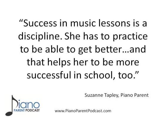 Suzanne Tapley, piano parent