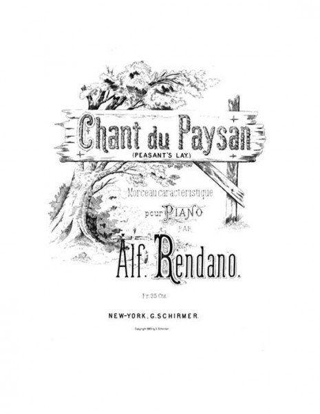 Alfonso Rendano piano sheet music