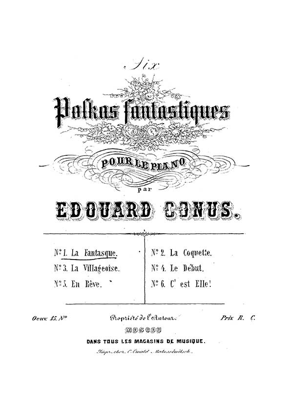 Eduard Conus piano sheet music