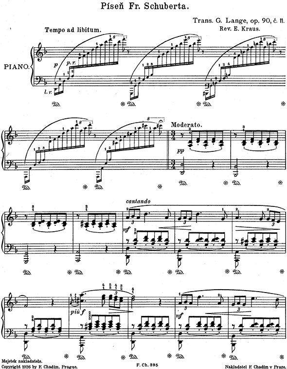 Gustav Lange piano sheet music
