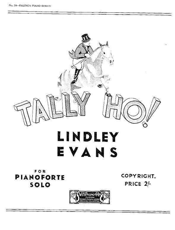 Lindley Evans Rhapsody Tally Ho! Vignette piano sheet music