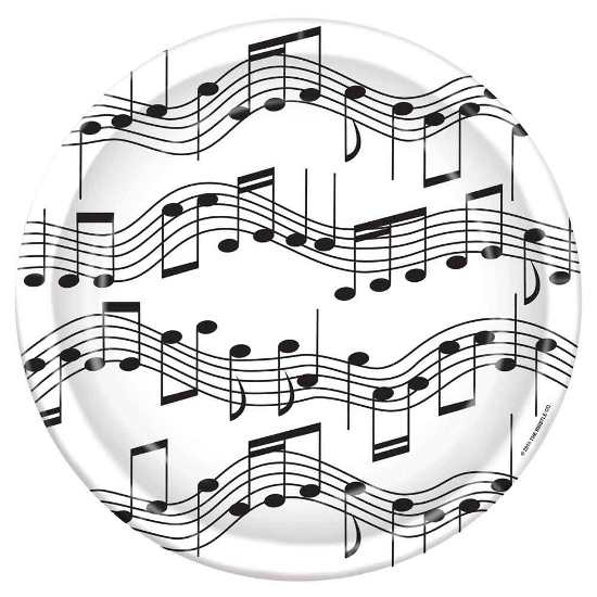 Music Note Party Plates 9