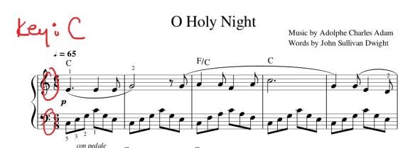 Christmas Piano Tutorial O Holy Night 1358 Chords Pianotv