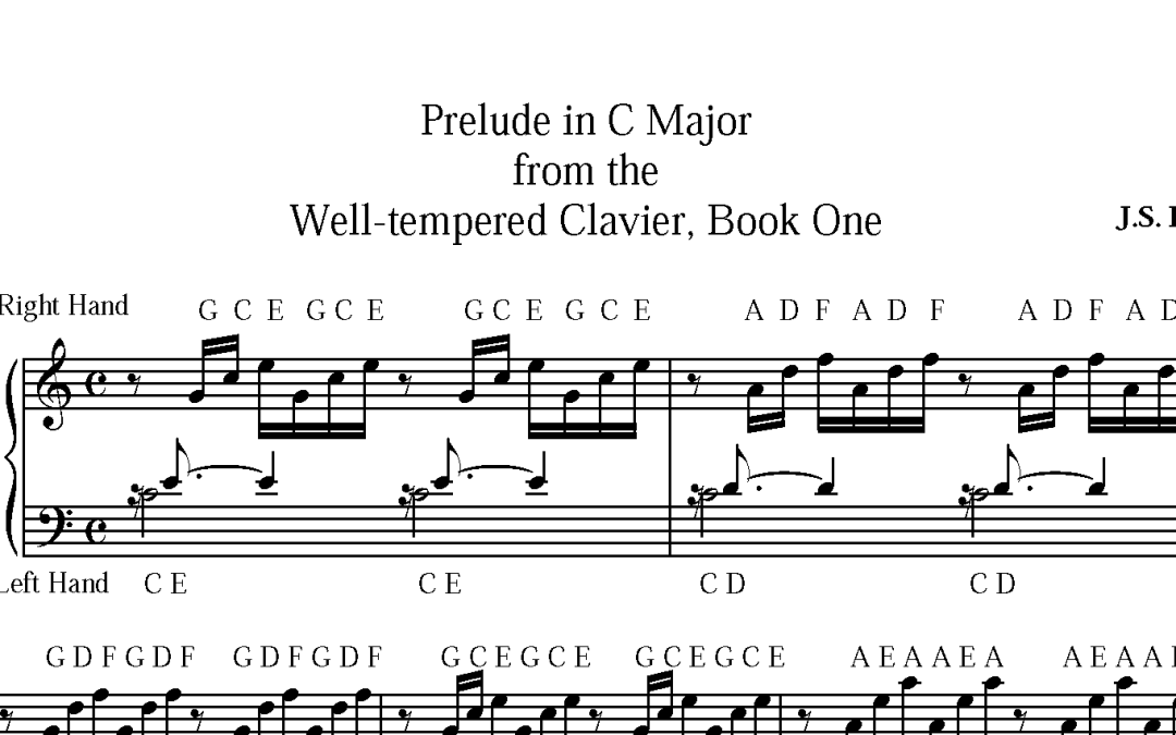 "NEW Custom Sheet for Members: ""Prelude in C"" by Bach"