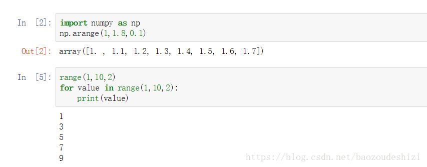 Python入門:range和arange的區別 - 程序員大本營
