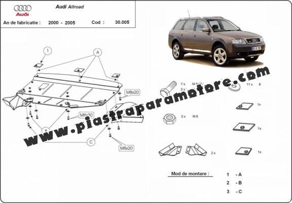 Piastra paramotore di acciaio Audi Allroad
