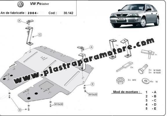 Piastra paramotore di acciaio Volkswagen