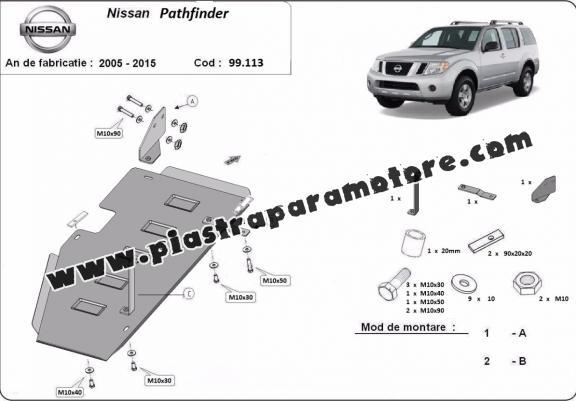 Protezione di acciaio per il serbatoio Nissan Pathfinder D40