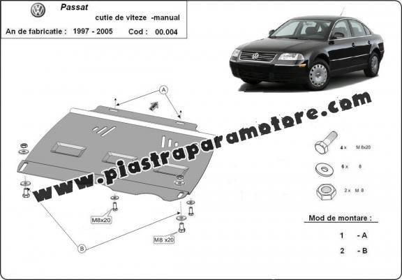 Protezione di acciaio per il cambio manuale VW Passat