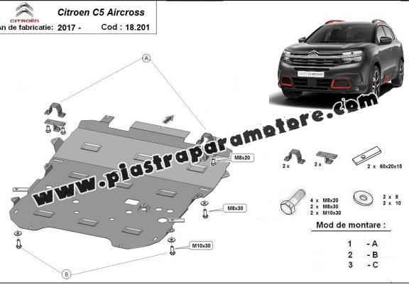 Piastra paramotore di acciaio Citroen C5 Aircross