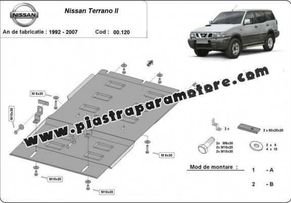 Protezione di acciaio per il cambio Nissan Terrano II