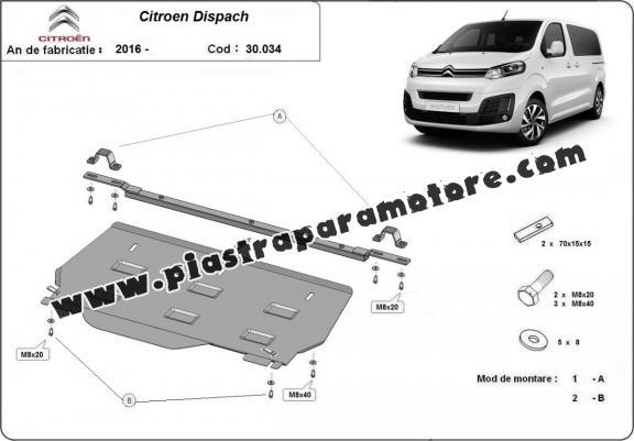 Piastra paramotore di acciaio Citroen Dispatch MPV