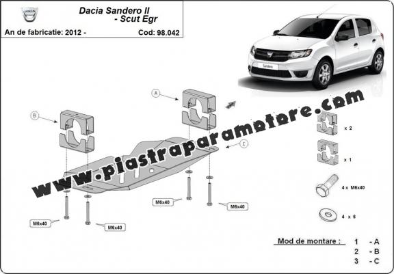 Piastra di acciaio per il sistema Stop & GO, EGR Dacia Sandero