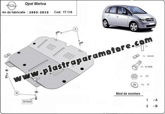 Piastra paramotore di acciaio Opel Meriva