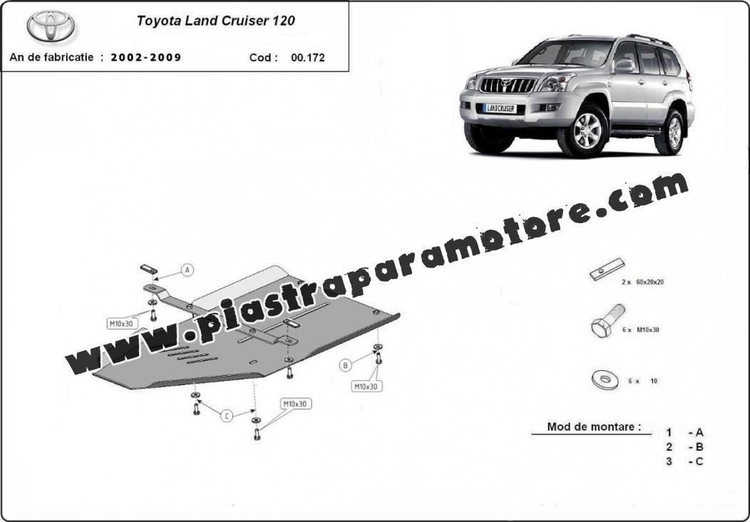 Protezione di acciaio per il cambio Toyota Land Cruiser