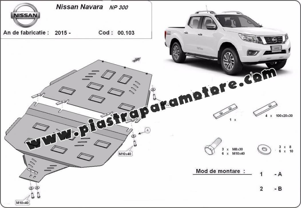 Protezione di acciaio per il cambio Nissan Navara NP300 2015