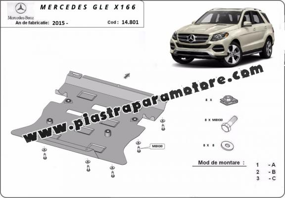 Piastra paramotore di acciaio Mercedes GLE X166