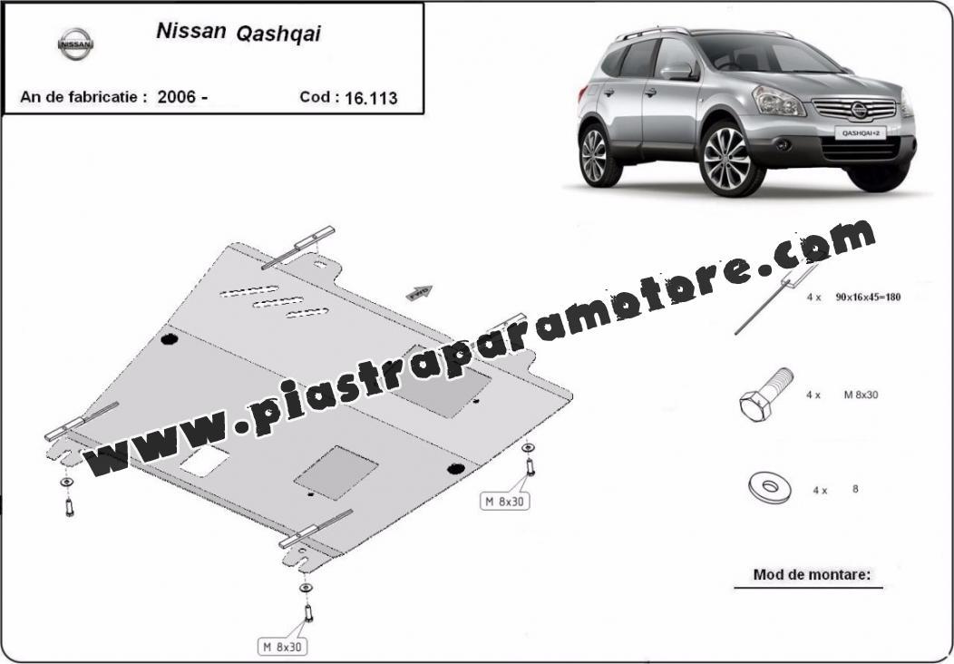 Piastra paramotore di acciaio Nissan Qashqai