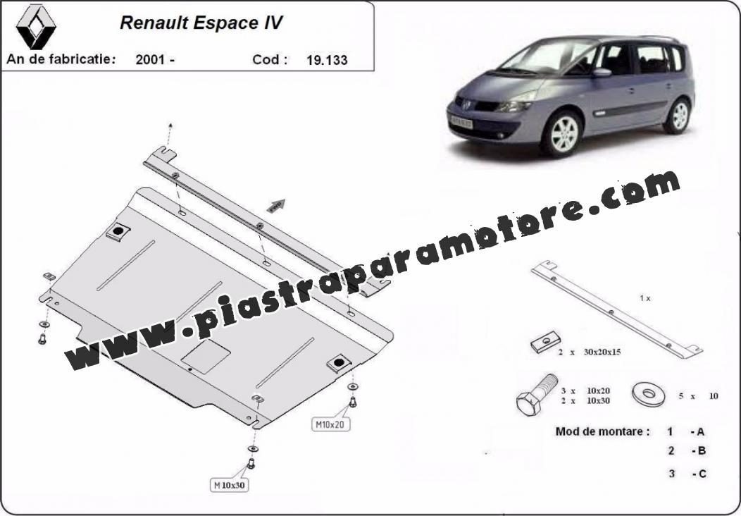Piastra paramotore di acciaio Renault Espace 4
