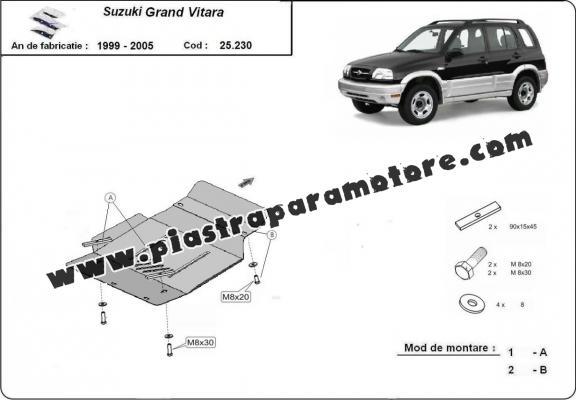 Piastra paramotore di acciaio Suzuki Grand Vitara