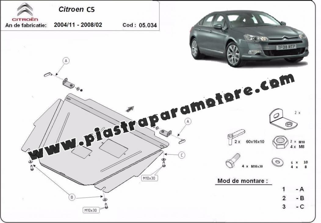 Piastra paramotore di acciaio Citroen C5