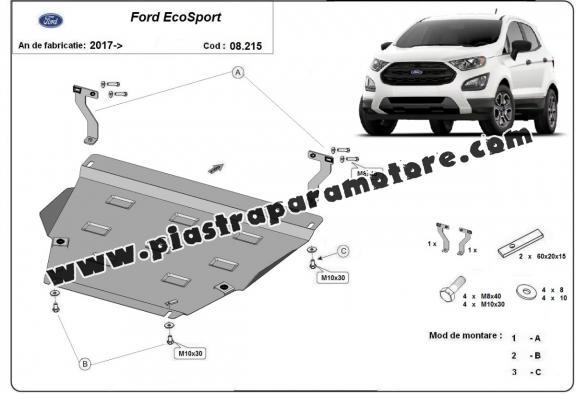 Piastra paramotore di acciaio Ford EcoSport