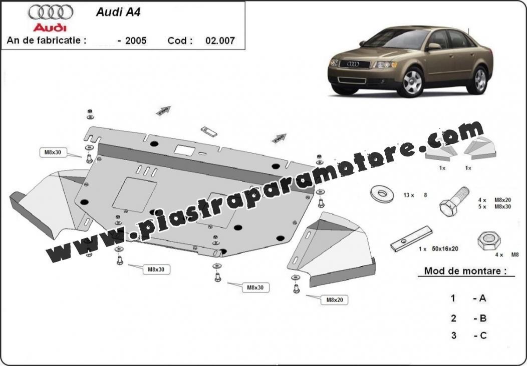 Piastra paramotore di acciaio Audi A4 2