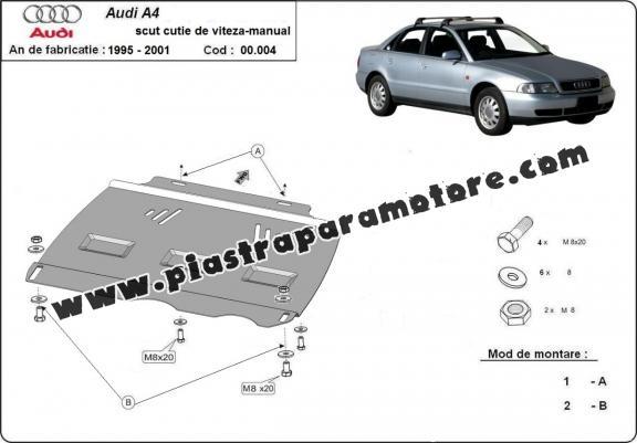 Protezione di acciaio per il cambio manuale Audi A4 1