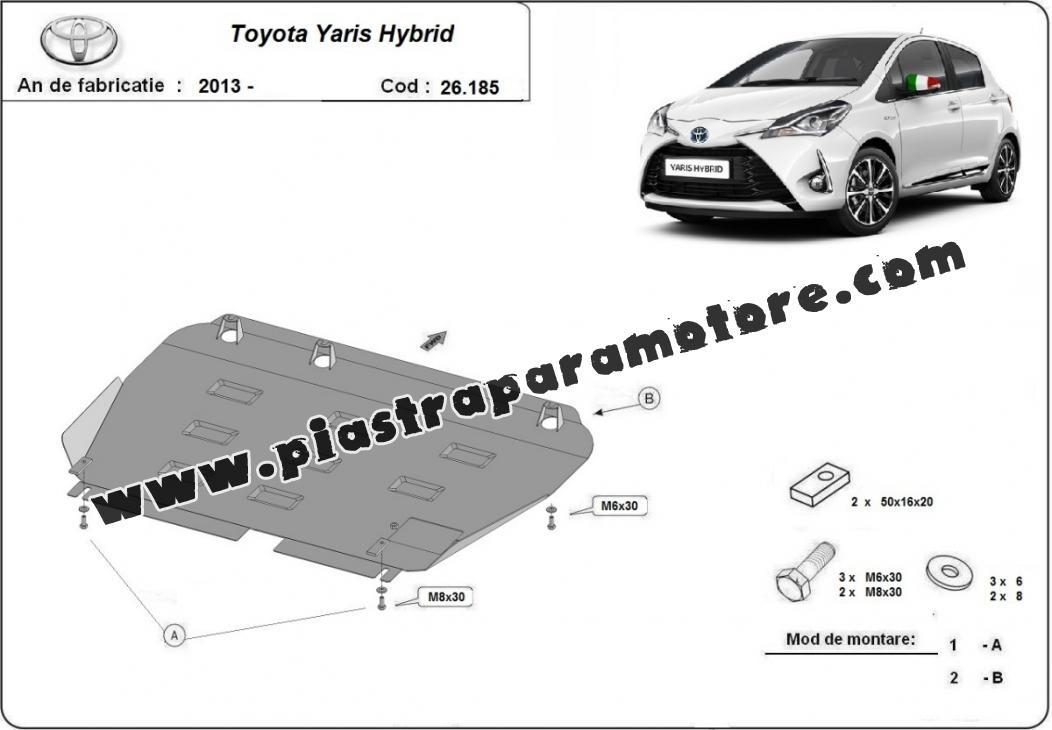 Piastra paramotore di acciaio Toyota Yaris Hybrid