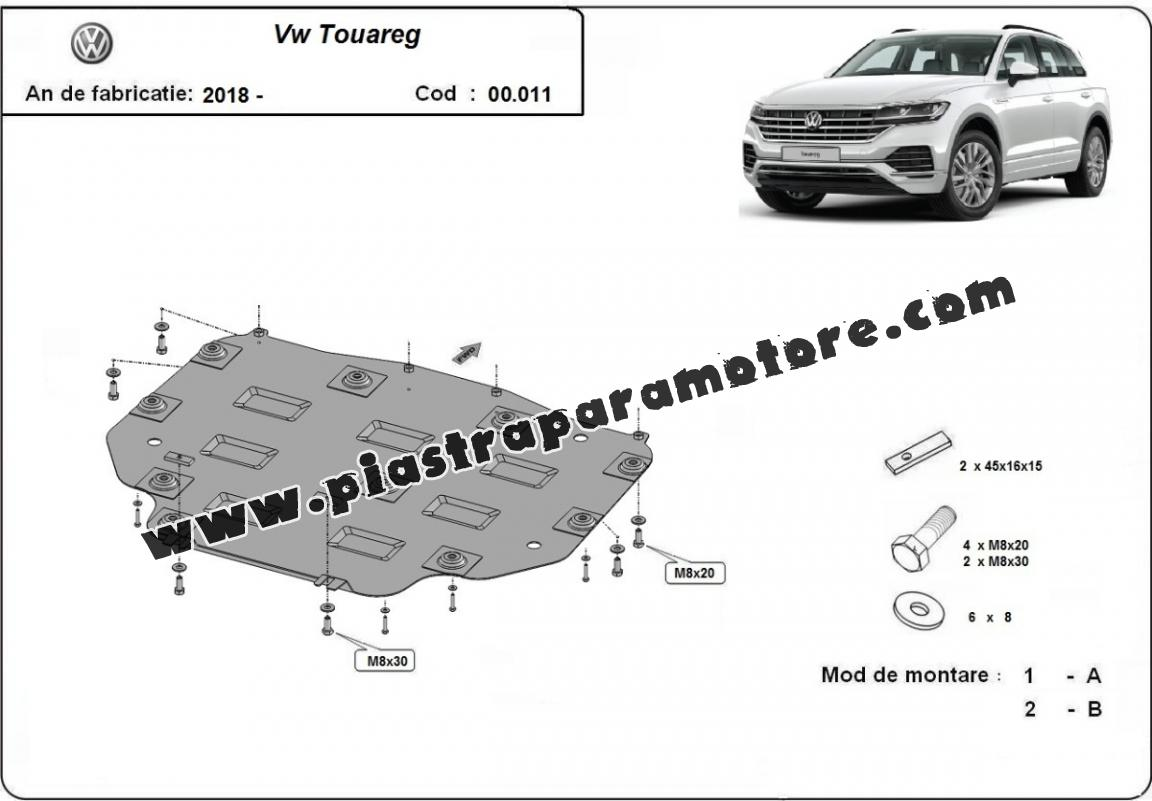 Protezione di acciaio per il cambio VW Touareg