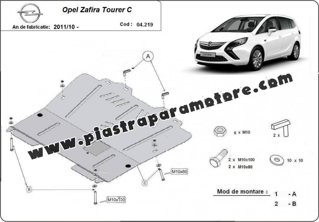 Piastra paramotore di acciaio Opel Zafira C