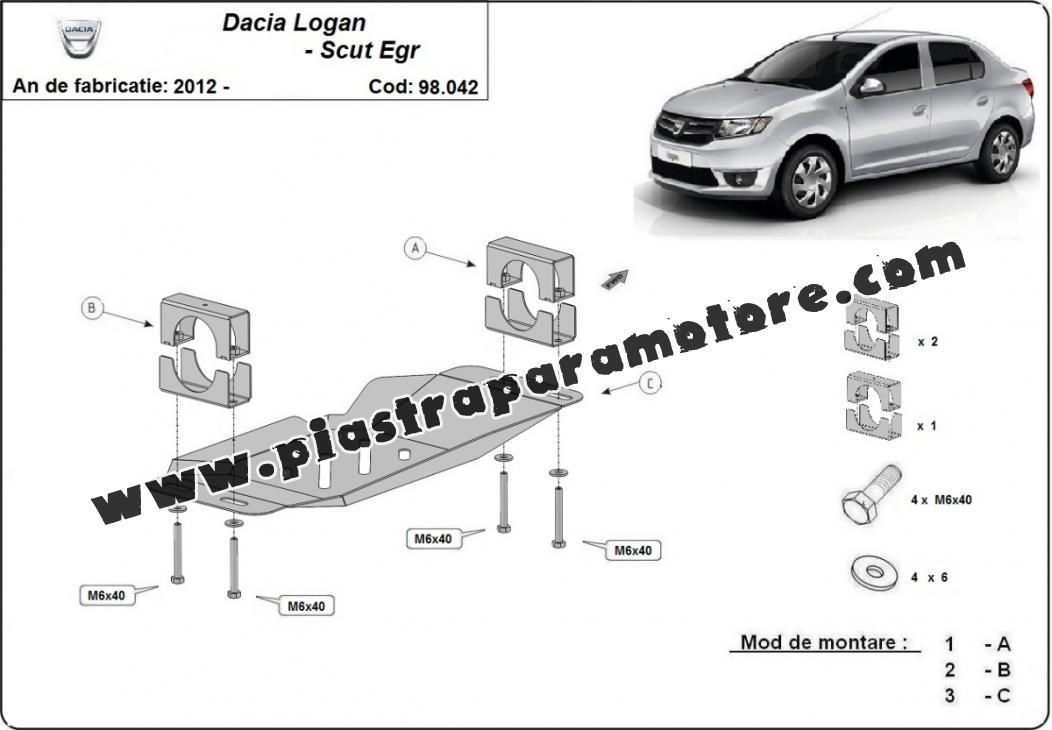 Piastra di acciaio per il sistema Stop & GO, EGR Dacia Logan 2