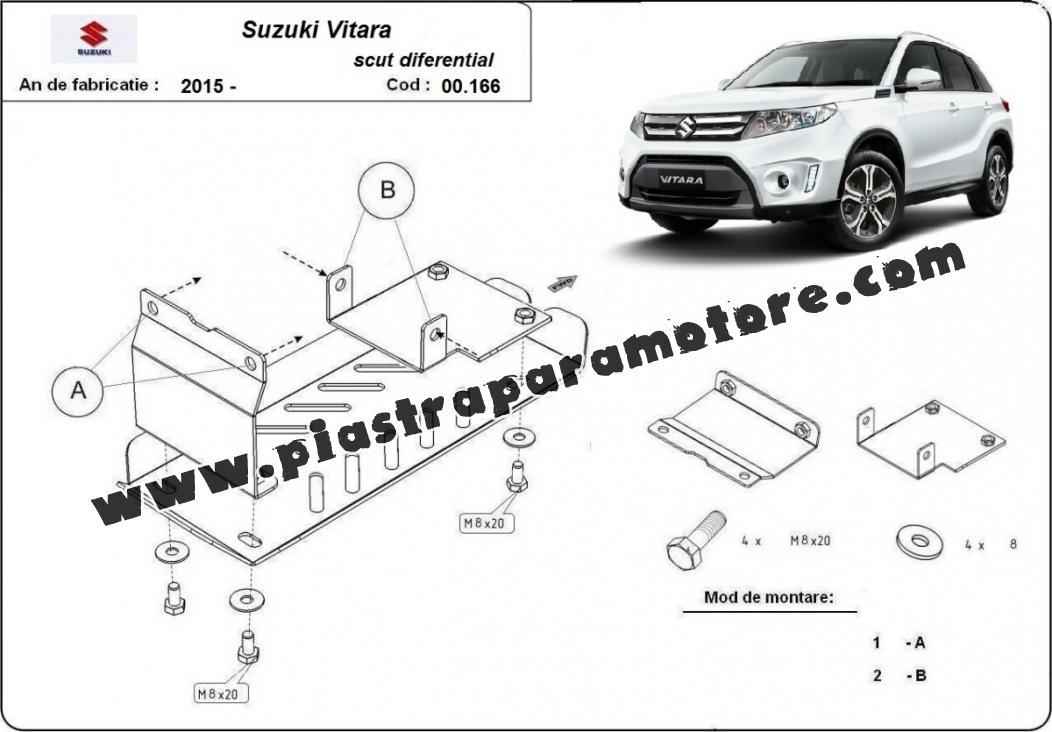 Protezione di acciaio per il differenziale Suzuki Vitara