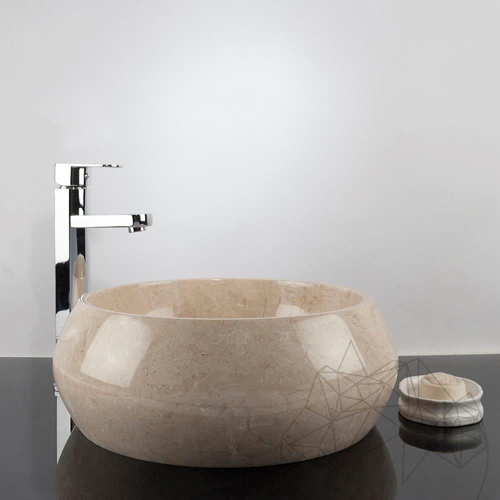 bathroom sink light beige marble rs 21 40 x 35 x 16 cm piatraonline com