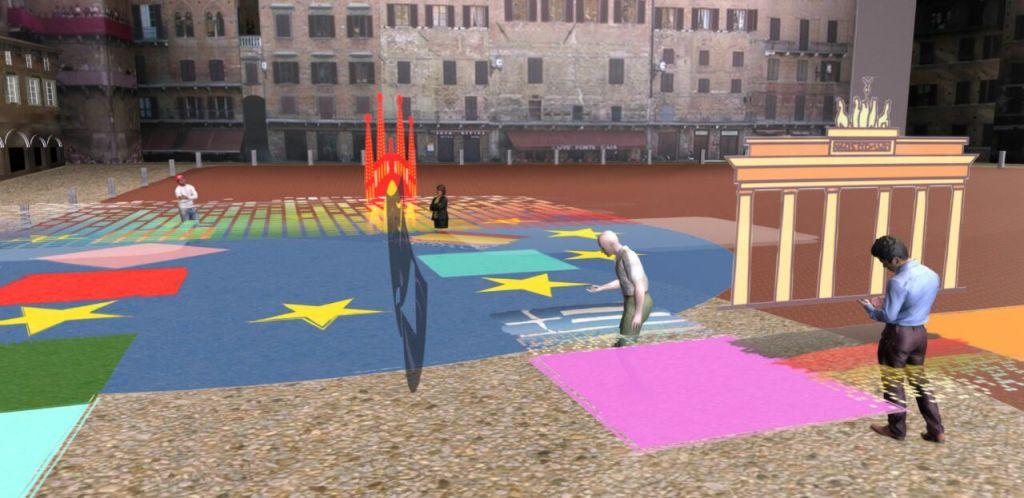 Primo bozzetto di Piazza Europa