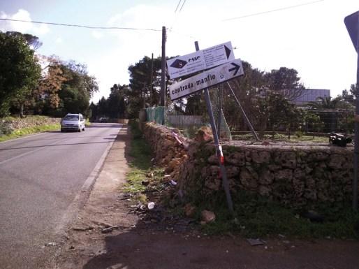 la strada provinciale Casarano - Ruffano