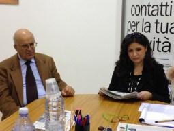 La nostra corrispondente Daniela Casciaro insieme al papà