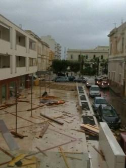 piazzale in via Sigismondo Castromediano (sullo sfondo piazza Carducci) - foto di Redazione
