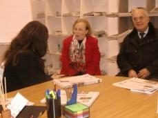 La De Lumè discute con Daniela Casciaro (corrispondente da Acquarica del Capo) e il suo papà
