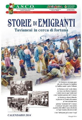 Calendario dell'associazione emigranti di Taviano