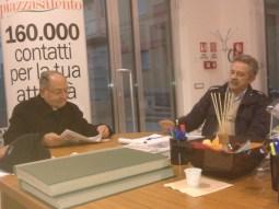Il direttore con il parroco di Taviano, don Salvatore Barone