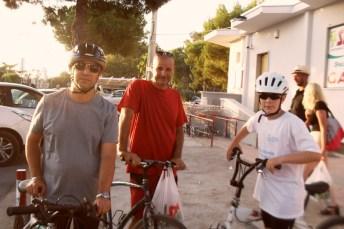 La famiglia Polidori appassionata di ciclismo, entusiasta della campagna tavianese