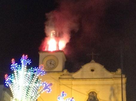Madonna delle Grazie - Fuochi sul campanile