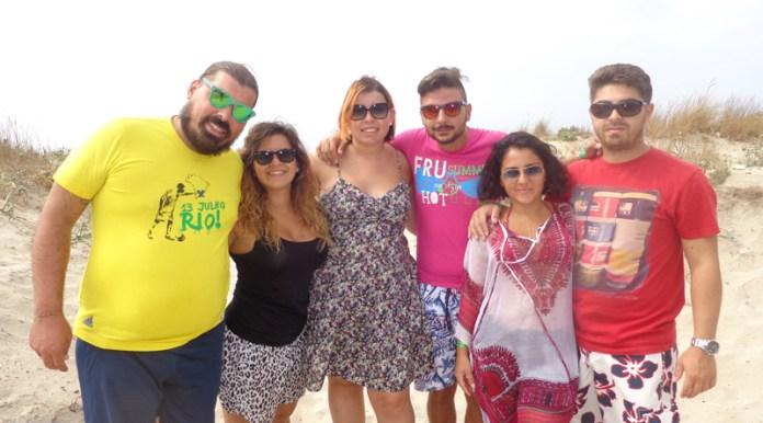 Foto di giovani vacanzieri settembrini a Gallipoli, estate 2014