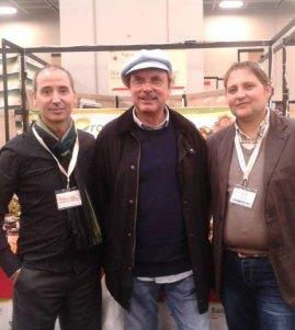Lucio e Salvatore Paiano con Luca Sardella. In basso Emanuele De Gaetani