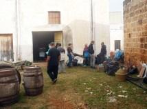 I preparativi nel vecchio magazzino del tabacco a Taurisano