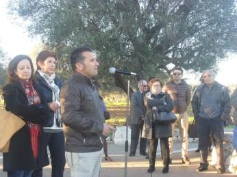 I maestri Adele Manco e Mauro Sances e, alle loro spalle, Marilena De Stasio, presidente di Ionia