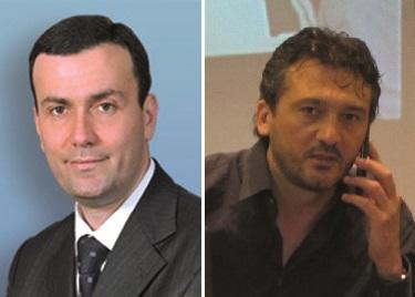 Il sindaco di Ugento Massimo Lecci e il segretario del Conapo Giancarlo Capoccia