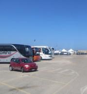 I turisti che sbarcano dai pullman al porto hanno solo l'imbarazzo della scelta .