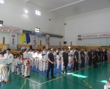 I partecipanti schierati